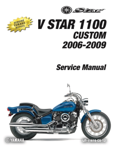 yamaha motorcycle v star 1100 custom workshop & repair manual