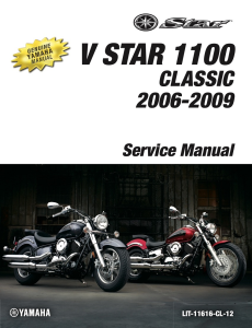 YAMAHA V STAR 1100 CLASSIC 2009 Workshop & Repair manual | Documents and Forms | Manuals