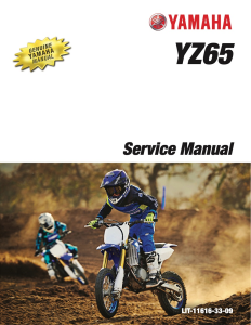 YAMAHA MOTORCYCLE YZ65 2020 Workshop & Repair manual | Documents and Forms | Manuals