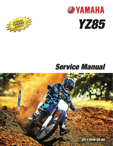 yamaha motorcycle yz85 2020 workshop & repair manual