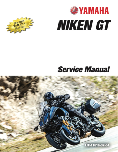 YAMAHA MOTORCYCLE NIKEN GT Workshop & Repair manual | Documents and Forms | Manuals