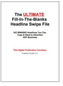 the ultimate fill-in-the-blanks  headline swipe file 342 winning headlines you can  copy & steal to advertise any business