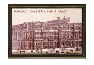 vintage print digital view of 100 years old new court house & city hall chicago usa us