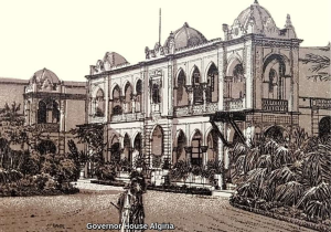 vintage print digital view of 100 years old governor house algeria