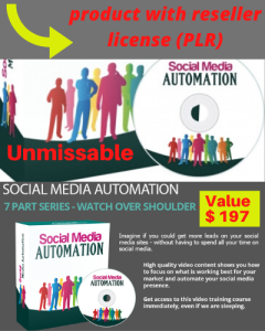 social media automation - product with reseller license (plr)