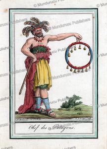 Patagonian chief, Argentina, Jacques Grasset de Saint-Sauveur, 1795 | Photos and Images | Digital Art