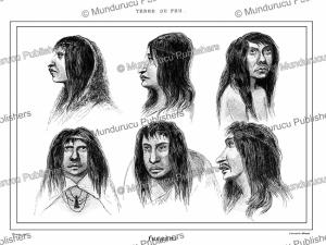 Natives of Tierra del Fuego, Vernier, 1839   Photos and Images   Digital Art