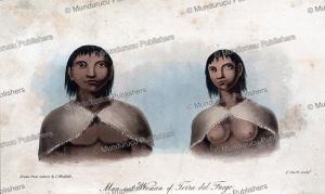 Man and woman of Tierra del Fuego, James Weddell, 1820 | Photos and Images | Digital Art