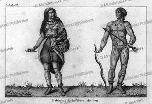 Inhabitants of Tierra del Fuego, Fr. Bancarel, 1809 | Photos and Images | Digital Art