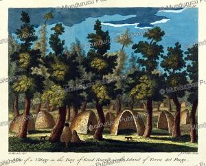 village on tierra del fuego, a. bushan, 1769