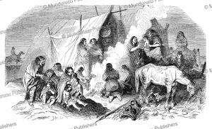 Camp of Patagonians at Peckett Harbor, l'Illustration, 1844 | Photos and Images | Digital Art