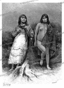 young fuegian women of tierra del fuego, pranishnikoff, 1885