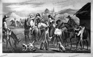 leaving tarija in argentina, w. horn, 1830