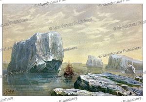 ice bergs in the southern pole, enrst heijn, 1892