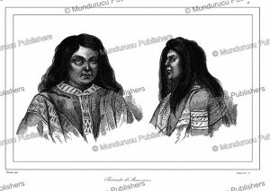 Arancan or Mapuche Indians, aboriginal Chileans, Vernier, 1839 | Photos and Images | Digital Art