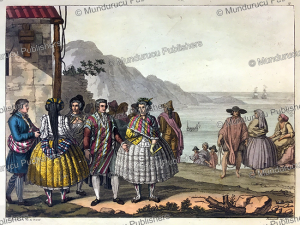 dress of the people of concepcio´n, chile, g. bramati, 1820