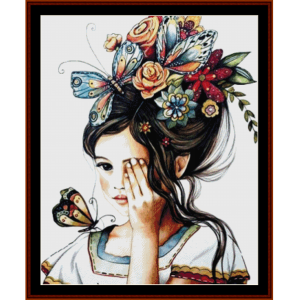 butterfly fun - fantasy cross stitch pattern by cross stitch collectibles