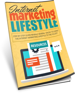 lifestyle in internet marketing - product with reseller license (plr)