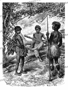 witoto (huitoto) indians of colombia, e´douard riou, 1883