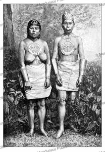Muisca Indians of Colombia wearing ancient jewellery, Thiriat, 1887 | Photos and Images | Digital Art