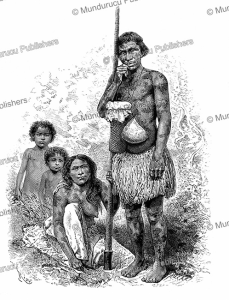 the half-breed indian fortunato and his family who suffer from vitiligo, colombia, e´douard riou, 1881