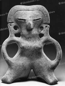 figurine with tattoo marks found in colombia, 800 bc