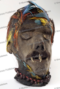 a shuar shrunken head (tsantsa) from ecuador, wellcome collection