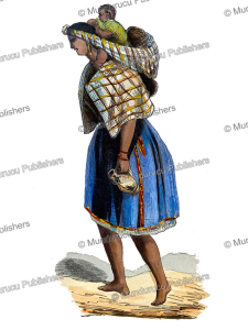 indian of quito, ecuador, auguste wahlen, 1844