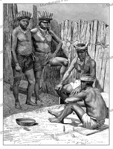 yumbo indians, a now extinct tribe located in the heart of the ecuadorian cloud forest, vignal, 1883