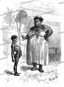a zamba woman with her sick child in the darien, panama, pranishnikoff, 1879
