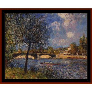 rowers - alfred sisley cross stitch pattern by cross stitch collectibles