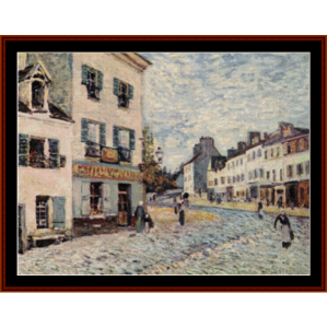 Street in Marly - Alfred Sisley cross stitch pattern by Cross Stitch Collectibles | Crafting | Cross-Stitch | Other