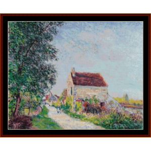 The Village of Saldons - Alfred Sisley cross stitch pattern by Cross Stitch Collectibles | Crafting | Cross-Stitch | Other