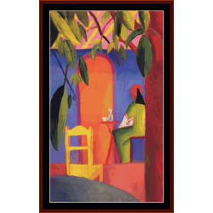 the terrace - august macke cross stitch pattern by cross stitch collectibles