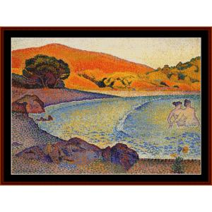 Bathers, 1895 - H.E. Cross cross stitch pattern by Cross Stitch Collectibles | Crafting | Cross-Stitch | Other