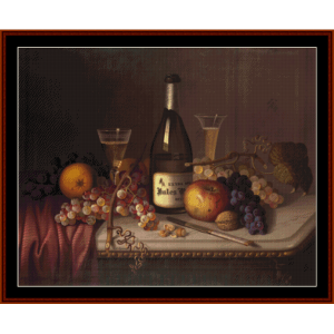 Still Life with Wine - Vintage cross stitch pattern by Cross Stitch Collectibles | Crafting | Cross-Stitch | Other