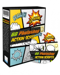 60 photoshop action scripts- product with reseller license (plr)
