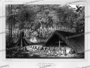 dancing yuracare`s indians, bolivia, dessalines d'orbigny, 1846