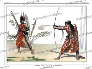 native americans or yuracares engage in combat, bolivia, alcide dessalines d'orbigny, 1846
