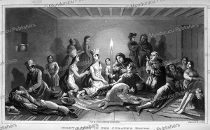 night scene in the curate's house after a festival, argentina, j. clark, 1829