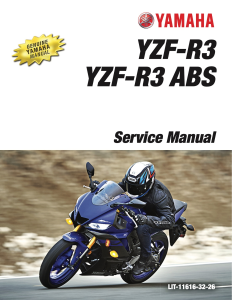 yamaha motorcycle yzf-r3 yzf-r3 abs workshop & repair manual