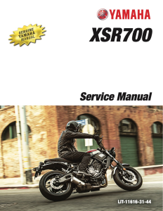 YAMAHA XSR700 2018-2020 Workshop & Repair manual | Documents and Forms | Manuals