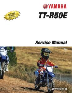 yamaha tt-r50e 2018-2020 workshop & repair manual