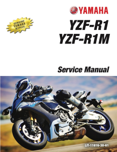 YAMAHA MOTORCYCLE YZF-R1M YZF-R1 Workshop & Repair manual | Documents and Forms | Manuals