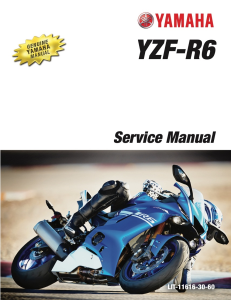 YAMAHA MOTORCYCLE YZF-R6 2017-2020 Workshop & Repair manual | Documents and Forms | Manuals