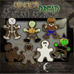 ginger-dread men printable stickers
