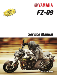 YAMAHA MOTORCYCLE FZ-09 MT-09 Workshop & Repair manual | Documents and Forms | Manuals