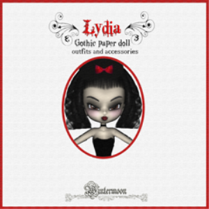 lydia gothic paper doll print & play