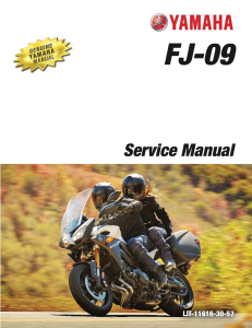 YAMAHA MOTORCYCLE FJ-09 2017 Workshop & Repair manual | Documents and Forms | Manuals