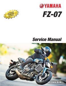 YAMAHA MOTORCYCLE FZ-07 ABS 2017 Workshop & Repair manual | Documents and Forms | Manuals